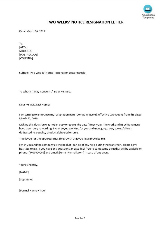 004 Impressive Letter Of Resignation Template Free Image  Pdf SampleLarge