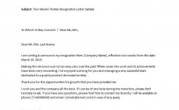 004 Impressive Letter Of Resignation Template Free Image  Pdf Sample