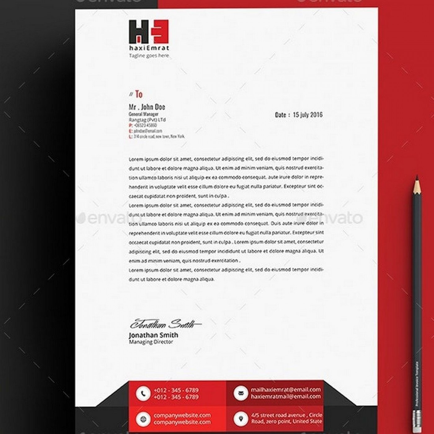 004 Impressive Letterhead Template Free Download Word Photo  Microsoft Format In Personal Red1400
