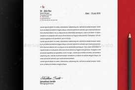 004 Impressive Letterhead Template Free Download Word Photo  Microsoft Format In Personal Red