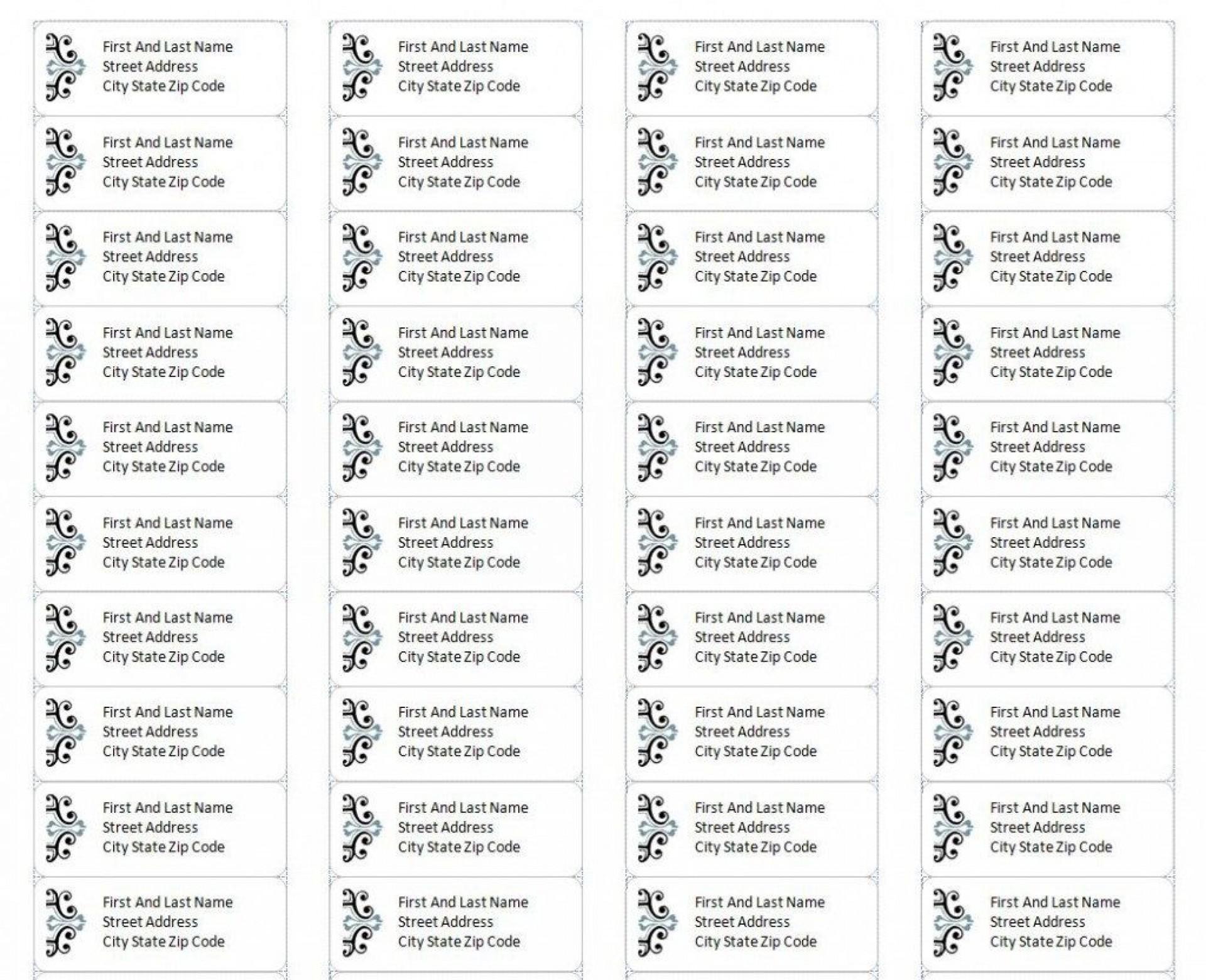 004 Impressive Microsoft Word Addres Label Template 30 Per Sheet Concept 1920