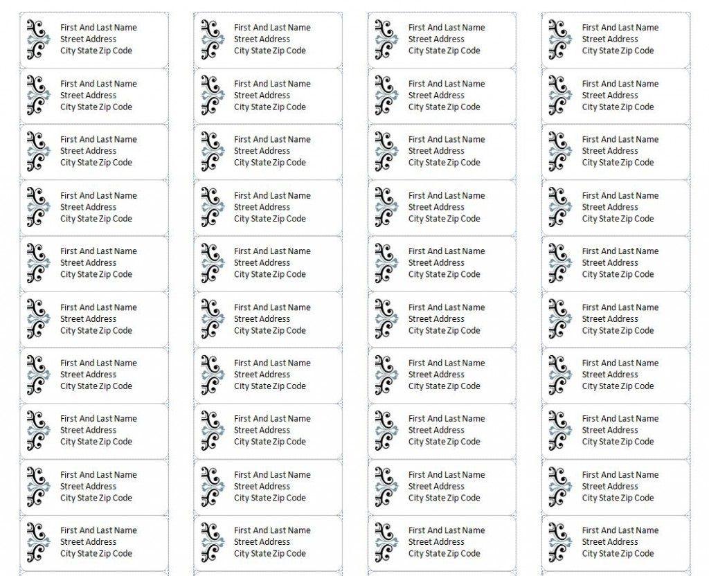 004 Impressive Microsoft Word Addres Label Template 30 Per Sheet Concept Full
