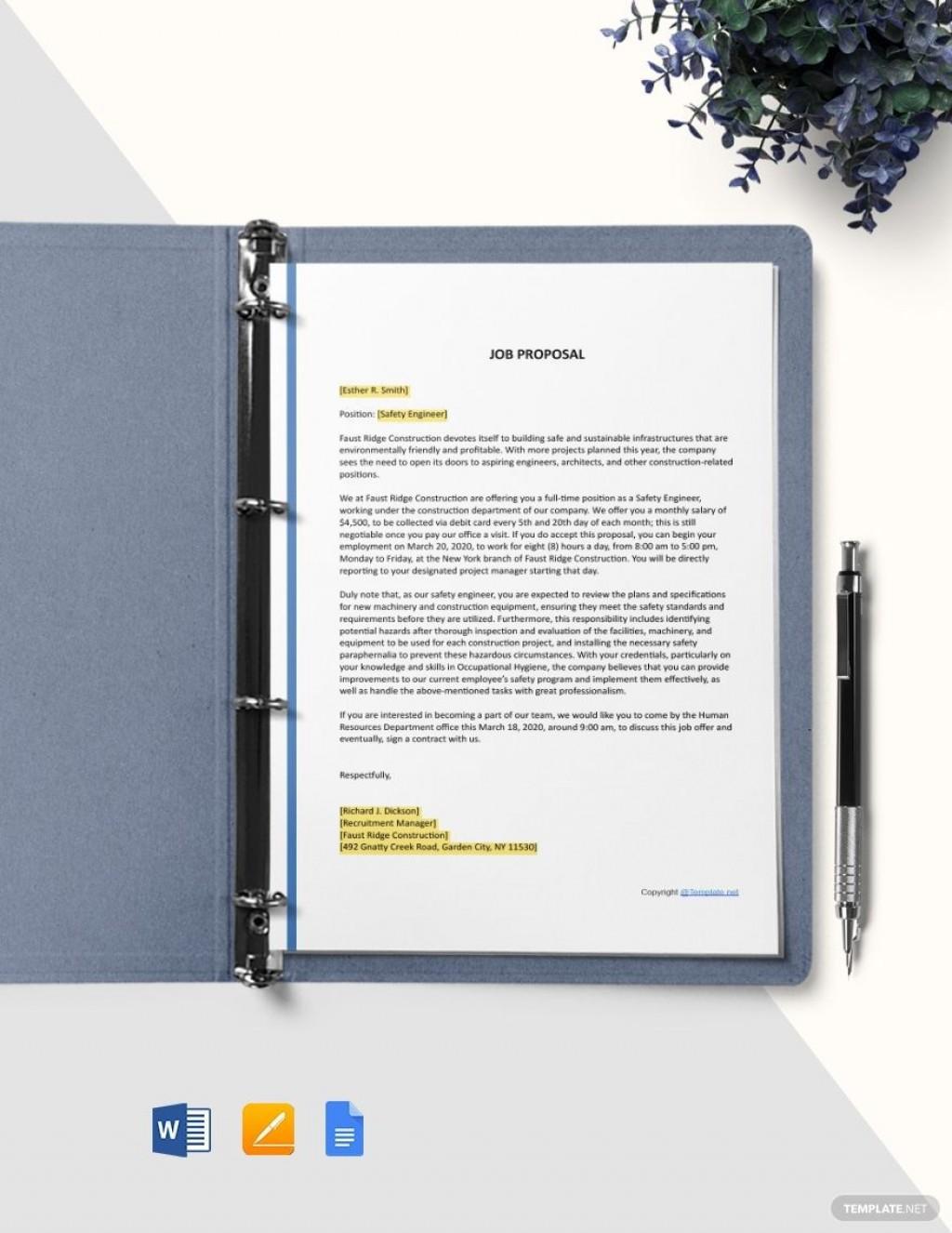 004 Impressive Microsoft Word Job Proposal Template Concept Large