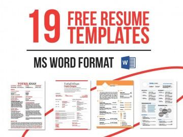 004 Impressive Microsoft Word Template Download Idea  M Cv Free Header360