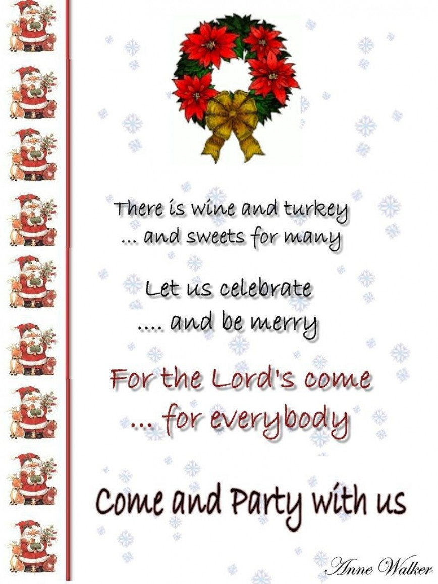 004 Impressive Office Christma Party Invitation Wording Sample Highest Clarity  Holiday Example868