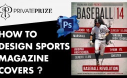 004 Impressive Photoshop Baseball Magazine Cover Template Concept