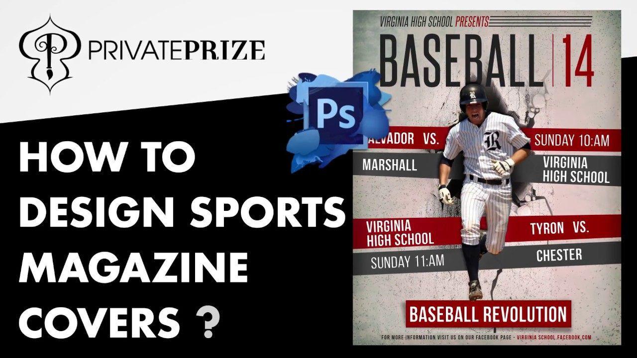 004 Impressive Photoshop Baseball Magazine Cover Template Concept Full