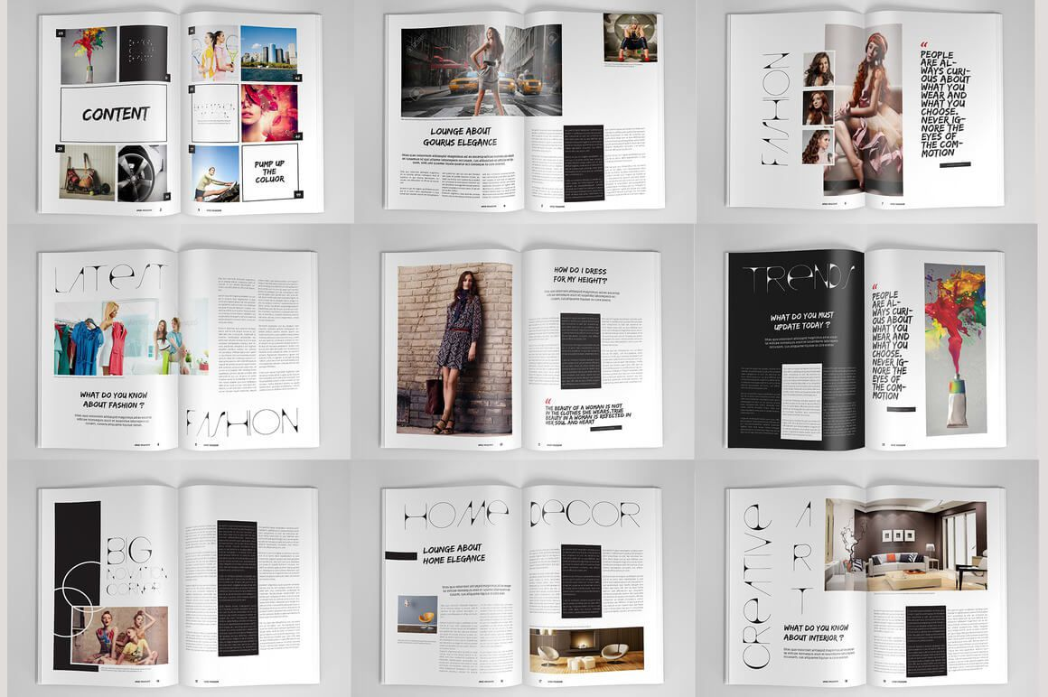 004 Impressive Photoshop Magazine Layout Template Free Download Image Full