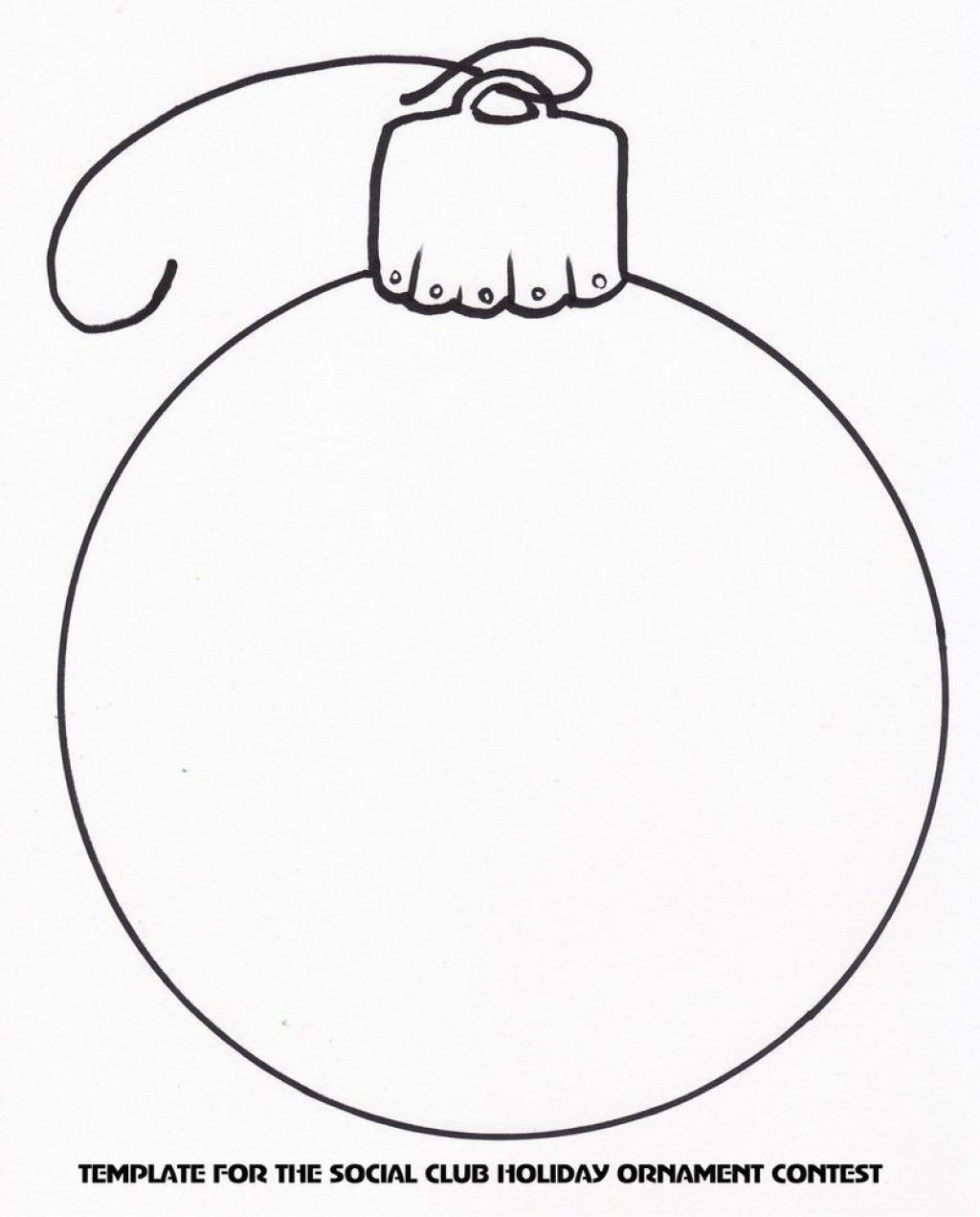 004 Impressive Printable Christma Ornament Template Idea  Templates Stencil Felt Pattern TreeLarge