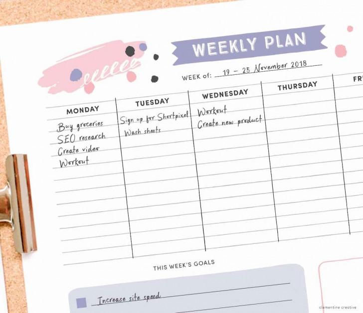 004 Impressive Printable Weekly Planner Template Cute High Resolution  Free Calendar728