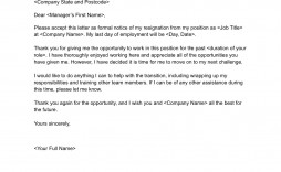 004 Impressive Professional Resignation Letter Template Idea  Best Format Pdf How To Write A