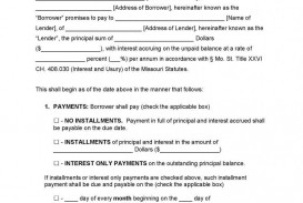 004 Impressive Promissory Note Template Microsoft Word High Definition  Form Free