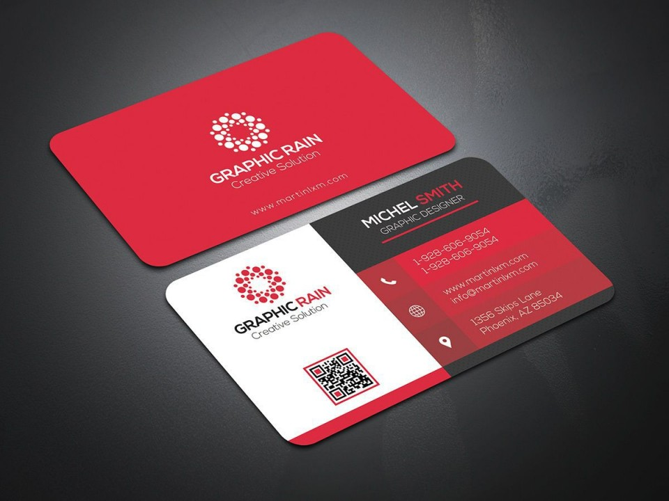 004 Impressive Psd Busines Card Template Highest Quality  Computer Free With Bleed960