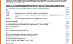 004 Impressive Research Project Proposal Outline Example Picture