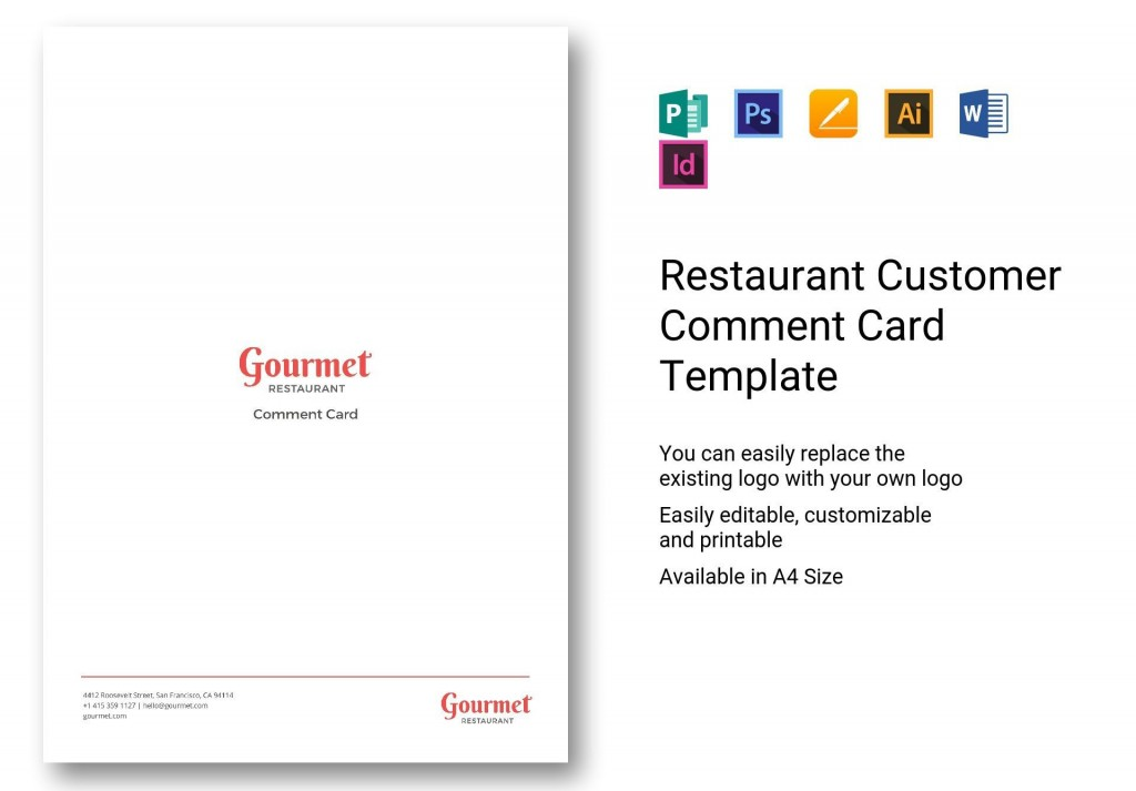 004 Impressive Restaurant Customer Comment Card Template Concept  For Word FreeLarge