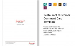 004 Impressive Restaurant Customer Comment Card Template Concept  For Word Free