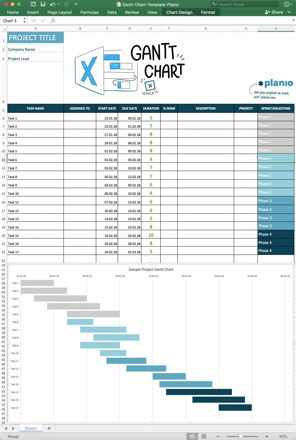 004 Impressive Simple Gantt Chart Template High Resolution  Free Microsoft Excel Download Monthly XlLarge