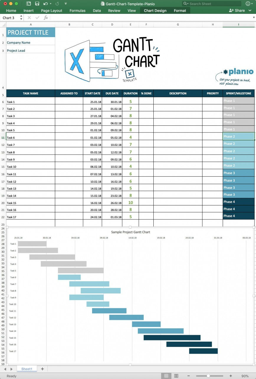 004 Impressive Simple Gantt Chart Template High Resolution  Monthly Excel Word Download