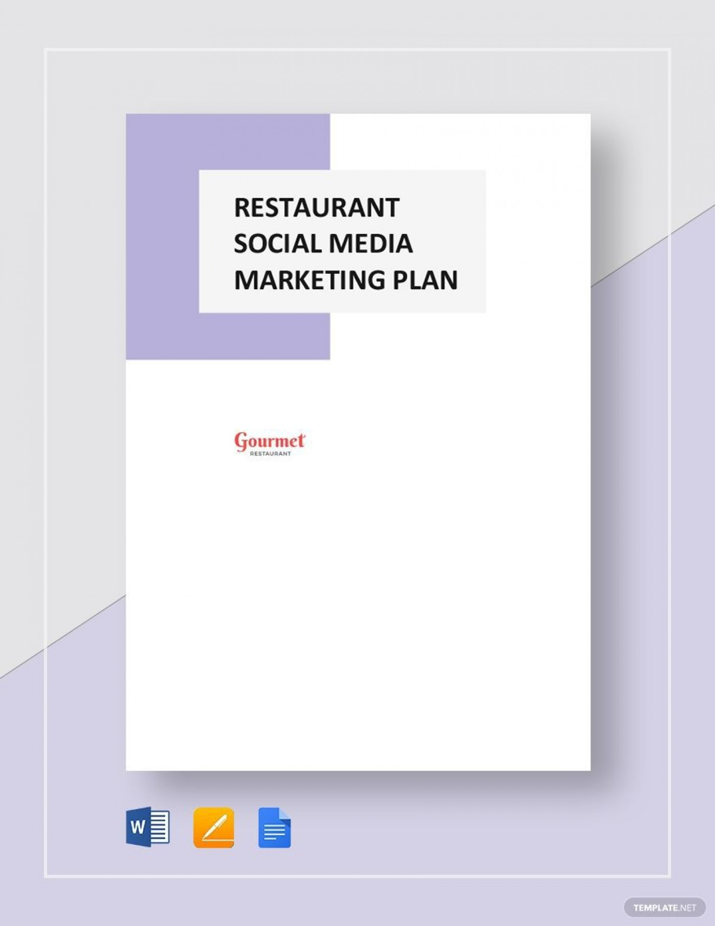 004 Impressive Social Media Marketing Plan Template Doc Highest Clarity 1400