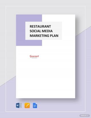 004 Impressive Social Media Marketing Plan Template Doc Highest Clarity 320