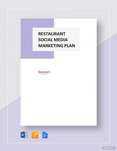 004 Impressive Social Media Marketing Plan Template Doc Highest Clarity 480
