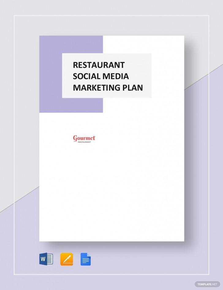 004 Impressive Social Media Marketing Plan Template Doc Highest Clarity 728