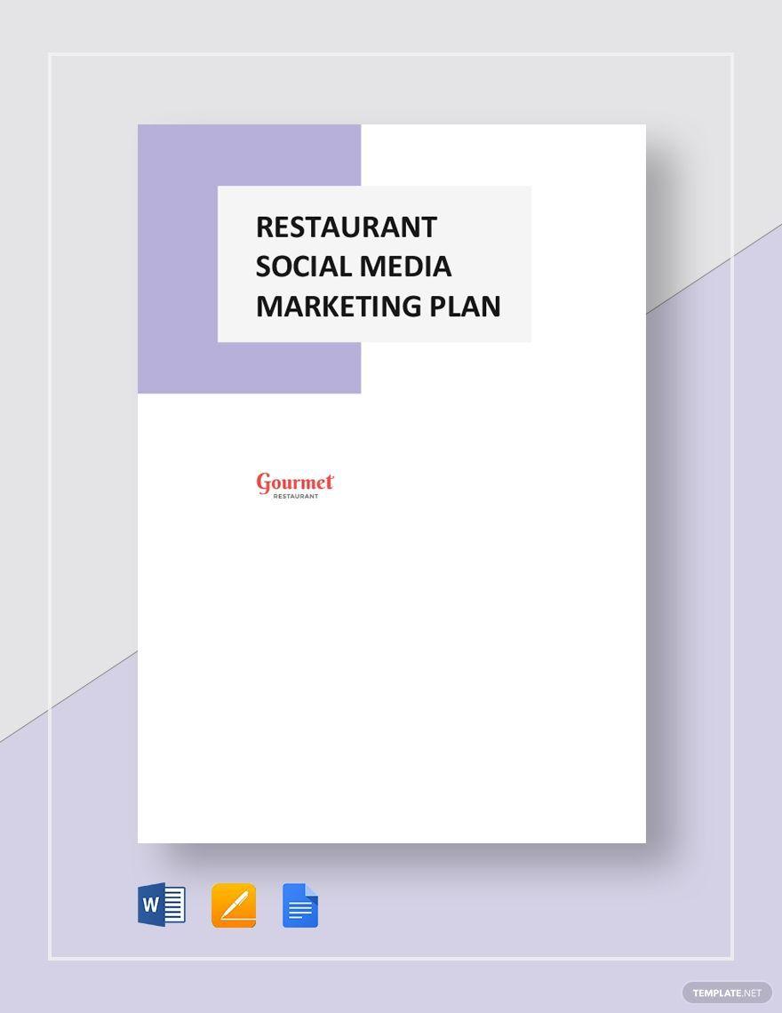 004 Impressive Social Media Marketing Plan Template Doc Highest Clarity Full