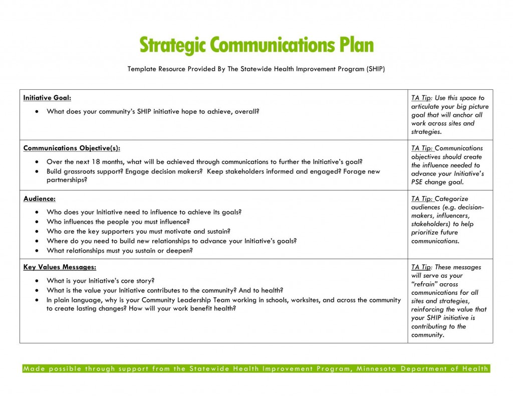 004 Impressive Strategy Communication Plan Template Photo  Internal And Action Example SampleLarge