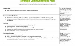 004 Impressive Strategy Communication Plan Template Photo  Internal And Action Example Sample
