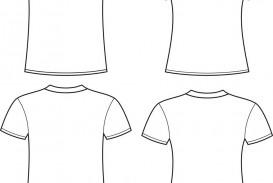 004 Impressive T Shirt Template Free High Definition  White Psd Download Design Website