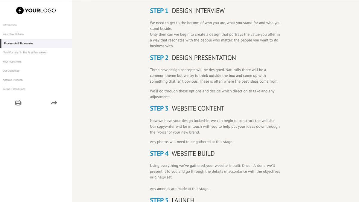 004 Impressive Website Development Proposal Format Idea  Web Template Pdf Sample EcommerceFull