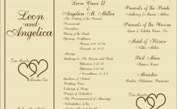 004 Impressive Wedding Program Template Free Sample  Fan Download Elegant