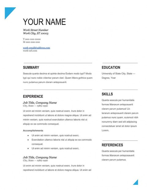 004 Impressive Word Resume Template Free Download Photo  2018 Creative Professional Microsoft480