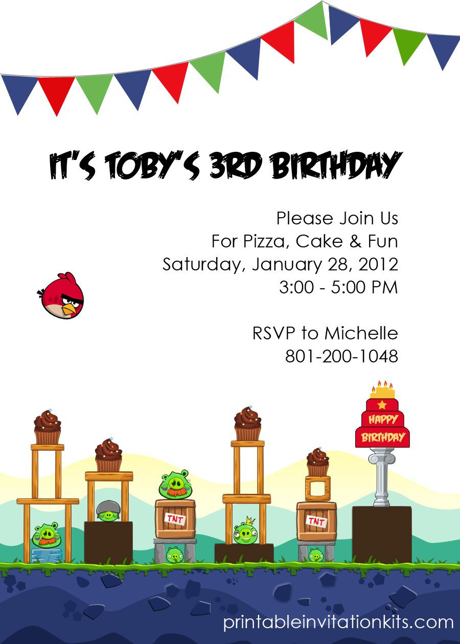 004 Incredible Birthday Invite Template Word Free High Def  Party InvitationFull