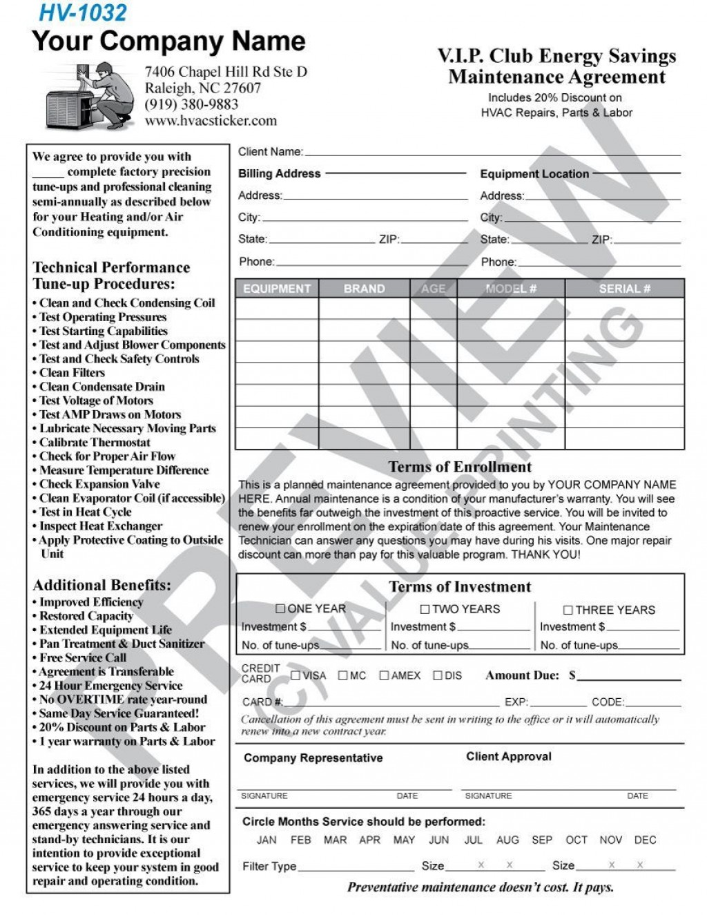 004 Incredible Commercial Hvac Service Agreement Template Picture  Maintenance ContractLarge