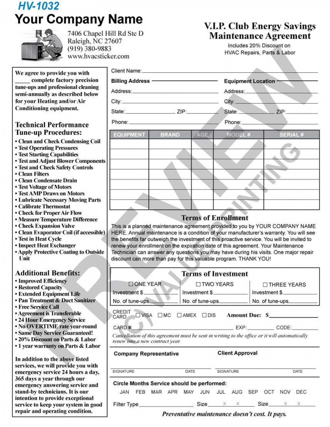 004 Incredible Commercial Hvac Service Agreement Template Picture  Maintenance Contract1400
