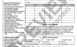 004 Incredible Commercial Hvac Service Agreement Template Picture  Maintenance Contract