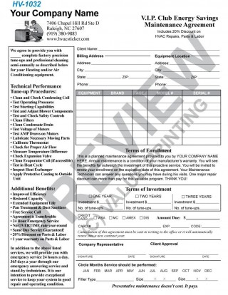 004 Incredible Commercial Hvac Service Agreement Template Picture  Maintenance Contract320