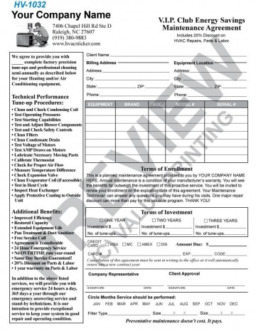 004 Incredible Commercial Hvac Service Agreement Template Picture  Maintenance Contract360