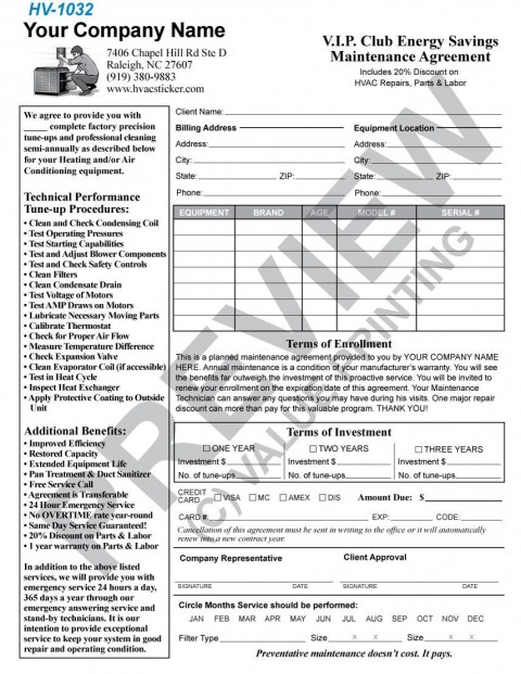 004 Incredible Commercial Hvac Service Agreement Template Picture  Maintenance Contract480
