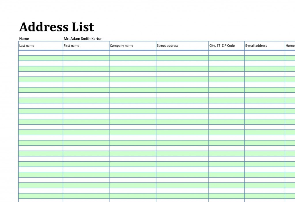 004 Incredible Excel Contact List Format Highest Quality  CustomerLarge