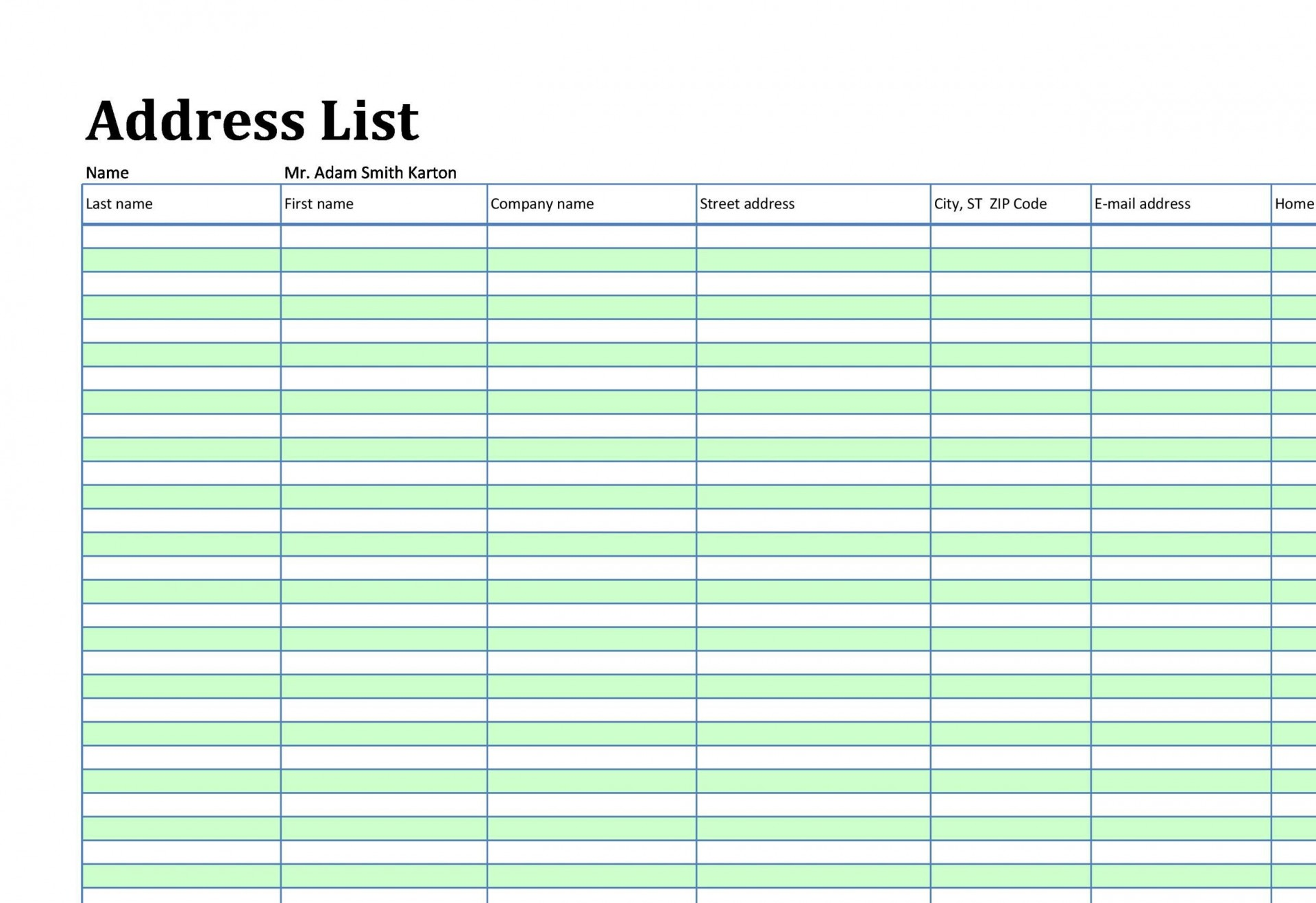004 Incredible Excel Contact List Format Highest Quality  Customer1920