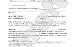 004 Incredible Free Residential Roofing Contract Template High Def