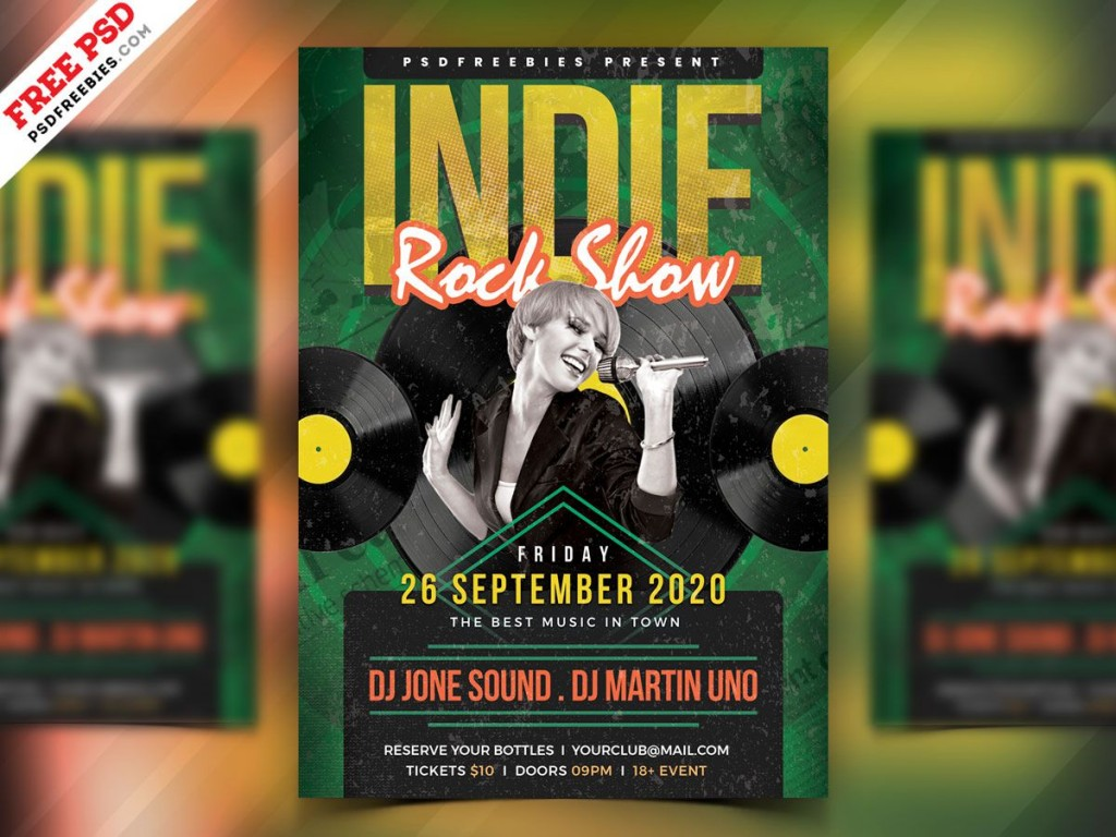 004 Incredible Free Rock Concert Poster Template Psd Inspiration Large
