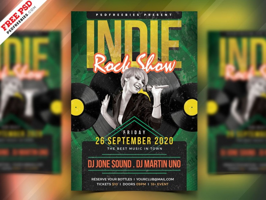 004 Incredible Free Rock Concert Poster Template Psd Inspiration