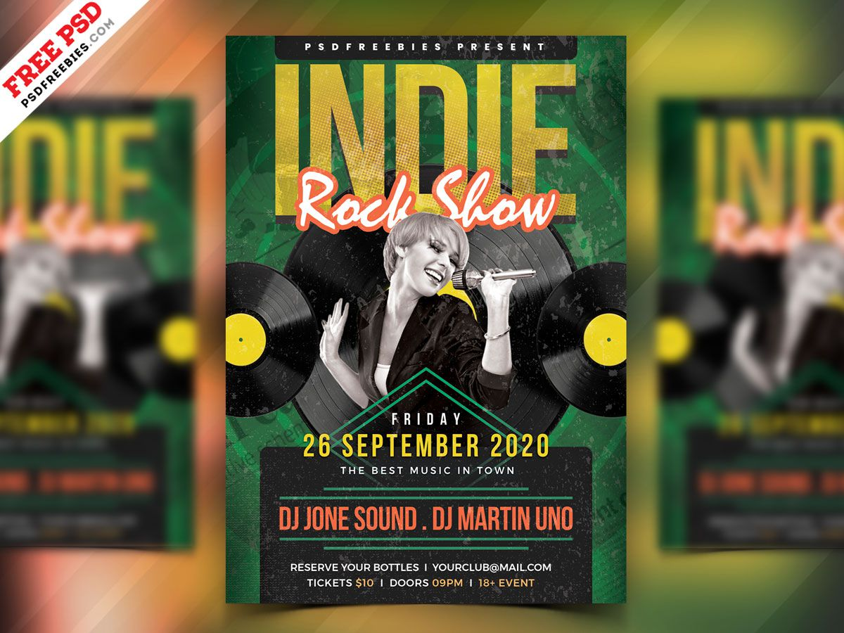 004 Incredible Free Rock Concert Poster Template Psd Inspiration Full