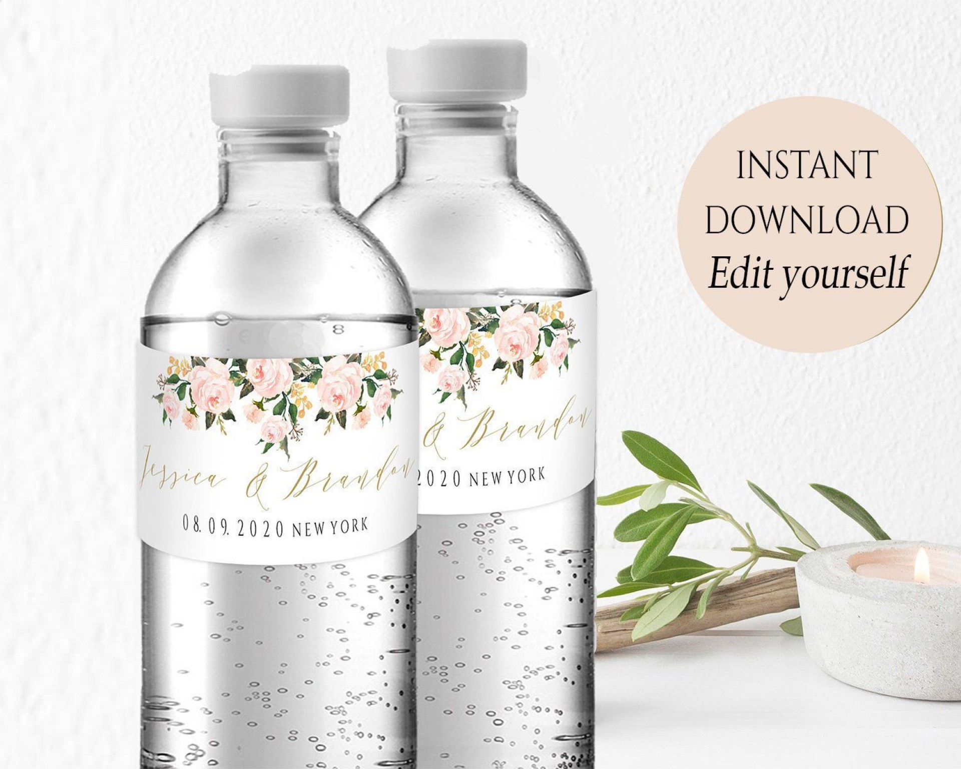 004 Incredible Free Wedding Template For Word Water Bottle Label Image  Labels1920