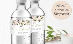 004 Incredible Free Wedding Template For Word Water Bottle Label Image  Labels