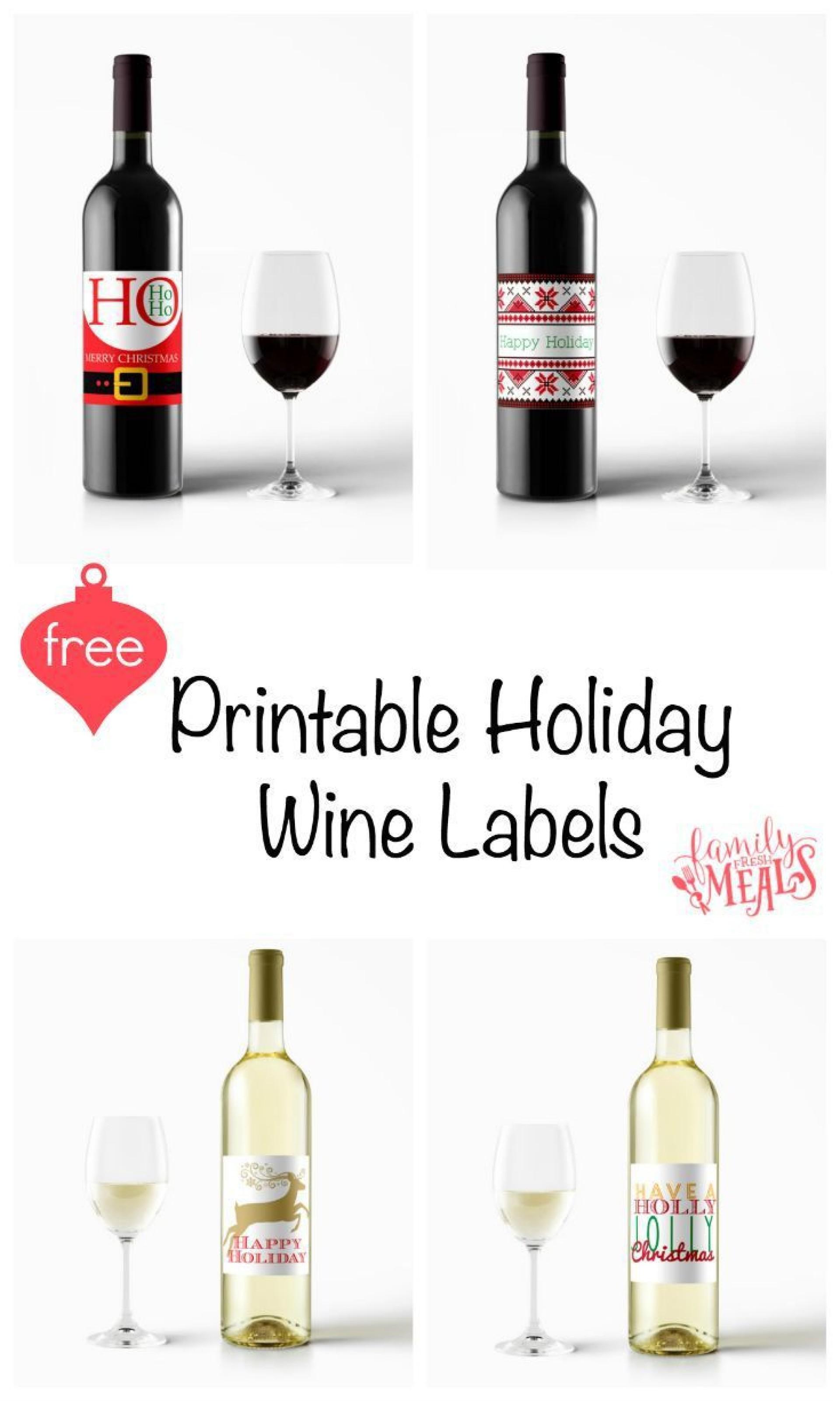 004 Incredible Free Wine Bottle Label Template Sample  Mini Printable1920