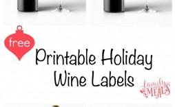 004 Incredible Free Wine Bottle Label Template Sample  Mini Printable